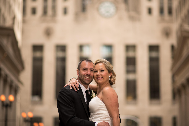 Bride Groom Lasalle Chicago Board of Trade