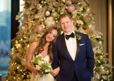 Bride Groom The Langham Hotel Christmas Tree
