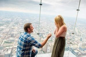 surprise proposal willis tower chicago