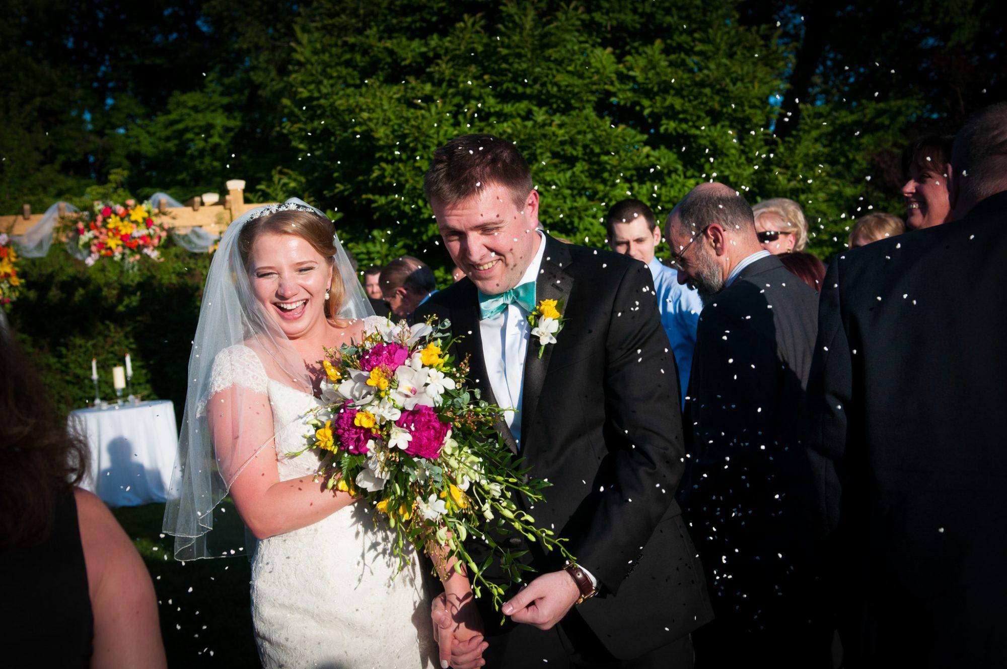 rice throwing bride groom morton arboretum