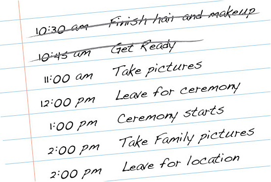 Wedding Timeline Generator