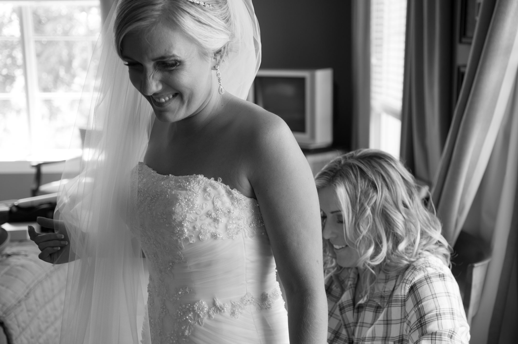 Bride's dress laced up The Glen Club Glenview